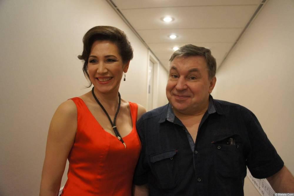 Михаил Шелег и с певицей на XX-м фестивале памяти Аркадия Северного