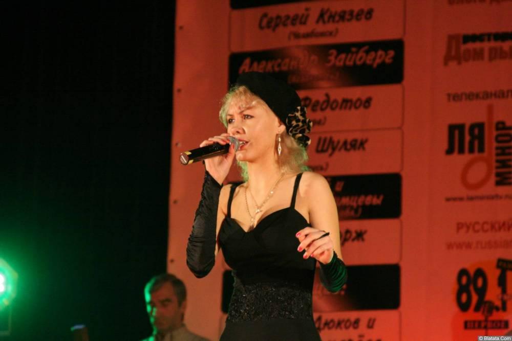 Юлия Андреева 13-14 декабря 2008 года на фестивале Хорошая песня 13