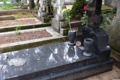 Могила Александра Галича на кладбище Сент-Женевьев-де-Буа