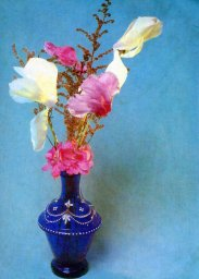 Цветы, советская открытка. Фотограф Е. Савалов