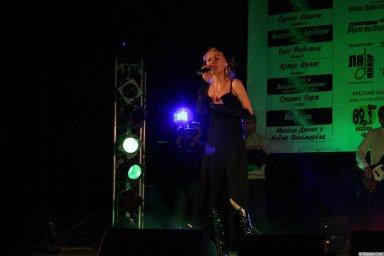 Юлия Андреева 13-14 декабря 2008 года на фестивале Хорошая песня 9