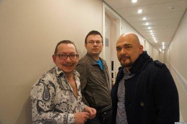 Сергей Трофимов и Алексей Дулькевич за кулисами на XX-м фестивале памяти Аркадия Северного