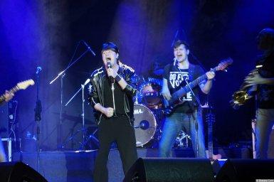 Виктор Королев на концерте 10 ноября 2015 года поёт со сцены