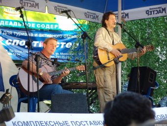 Олег Митяев на Ильменско фестивале летом 2006-го года