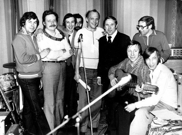 """Аркадий Северный на записи альбома с ансамблем """"Трезвость"""" в 1980 году 13"""