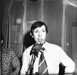Аркадий Северный на записи концерта Проводы 1977 года 4