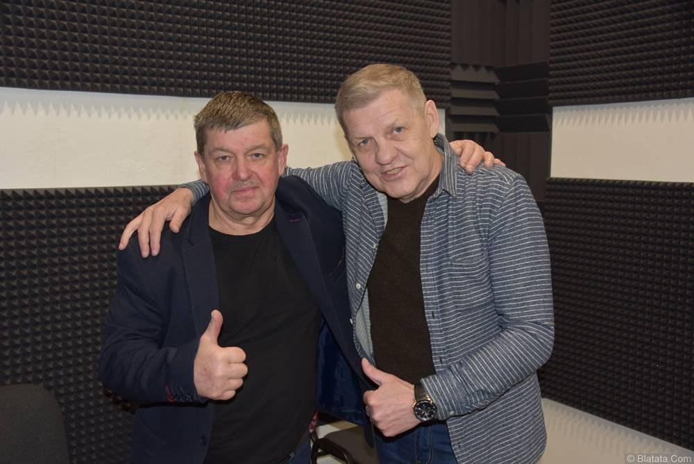 Валерий Волошин, группа Пятилетка и Евгений Любимцев в студии