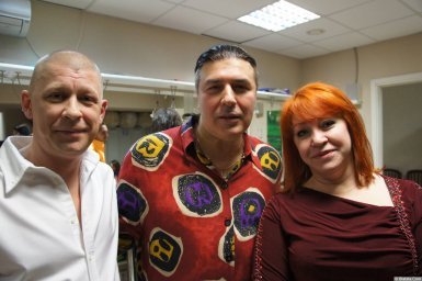 Олеся Атланова с коллегами на концерте 2013 года