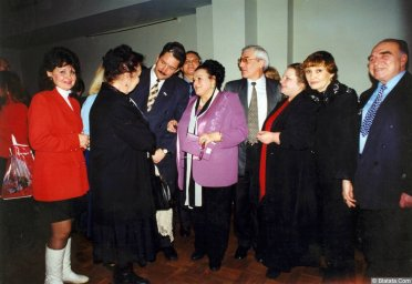 85-летие Виктора Фёдоровича Бокова (справа-Виктор Темнов) 1999.01.23
