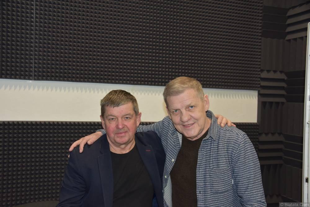Валерий Волошин, группа Пятилетка и Евгений Любимцев в студии в Калининграде