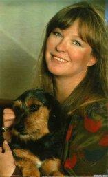 Марина Влади с собакой