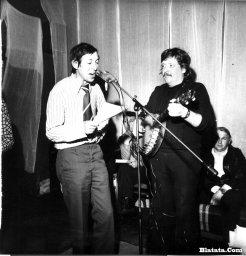 Аркадий Северный на записи концерта Проводы 1977 года и Николай Резанов
