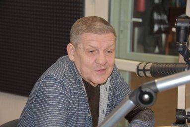 Валерий Волошин, группа Пятилетка в Калининграде на записи интервью
