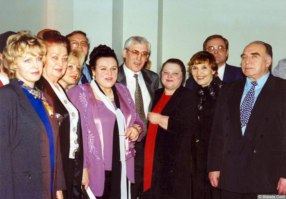 85-летие Виктора Бокова (справа-Виктор Темнов) 1999.01.23