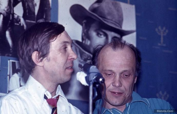 Аркадий Северный и Владимир Роменский на записи концерта в квартире Сергея Маклакова