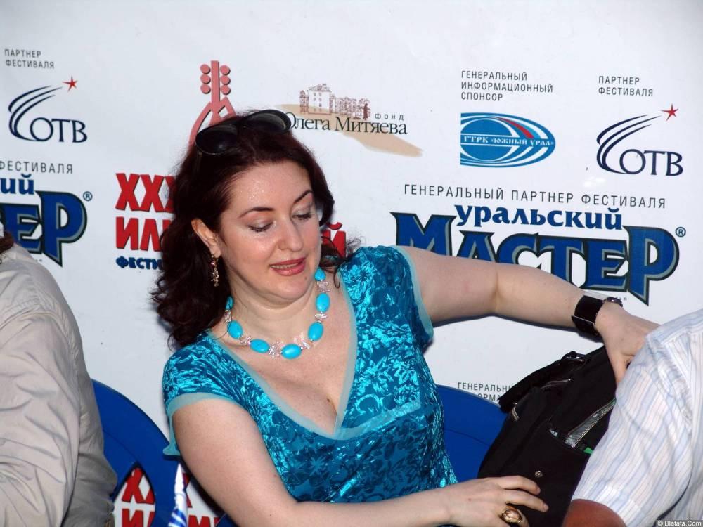 Тамара Гвердцители  на ХХХ-м Ильменском фестивале прессконференция