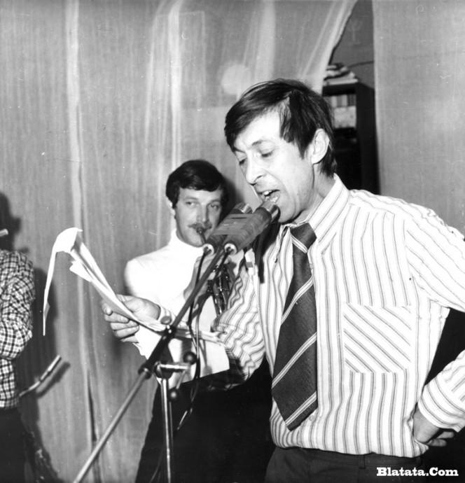 Аркадий Северный на записи концерта Проводы 1977 года 15