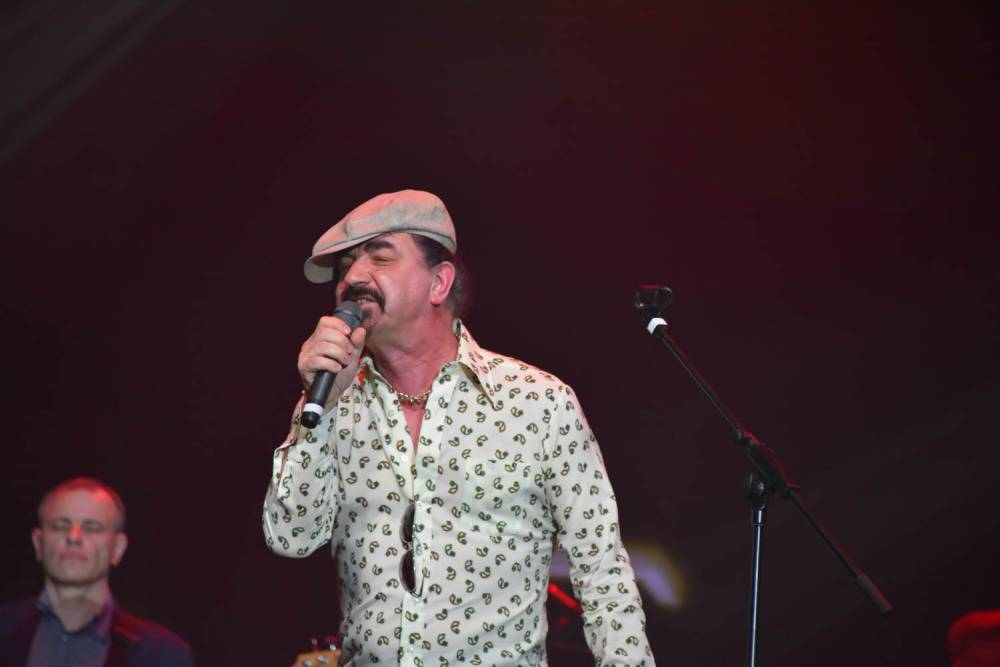 Юрий Михайличенко на сцене поёт