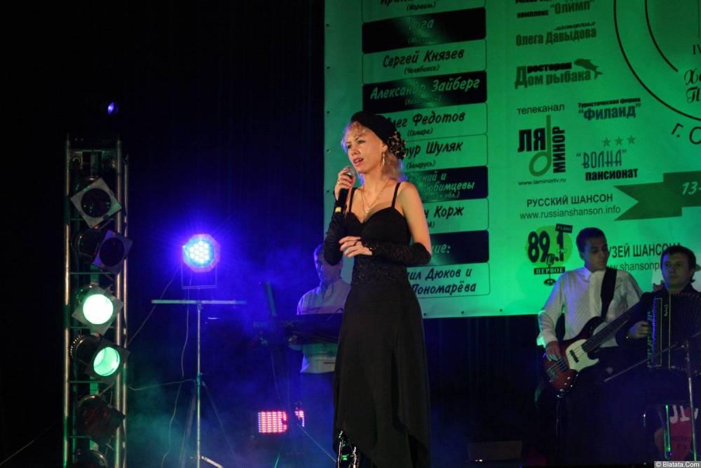 Юлия Андреева 13-14 декабря 2008 года на фестивале Хорошая песня 8