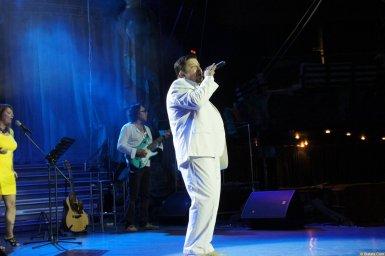 Владимир Стольный на сцене на концерте 19 августа 2014 года