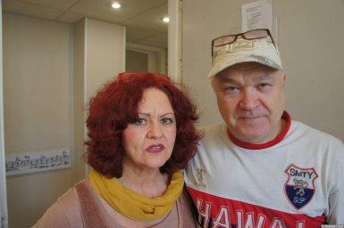 Ирина Каспер и исполнитель на XX-м фестивале памяти Аркадия Северного 12 апреля 2015 г.