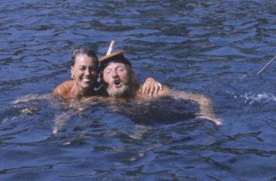 Ivan Rebroff в Греции на море