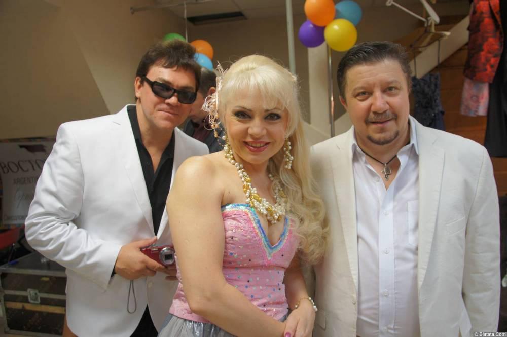 Владимир Стольный с коллегами на концерте 19 августа 2014 года