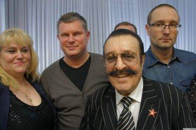 Вилли Токарев с Михаилом Дюковым после концерта