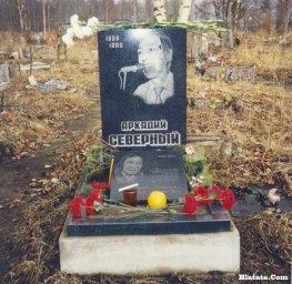 Памятник на кладбище Аркадию Северному