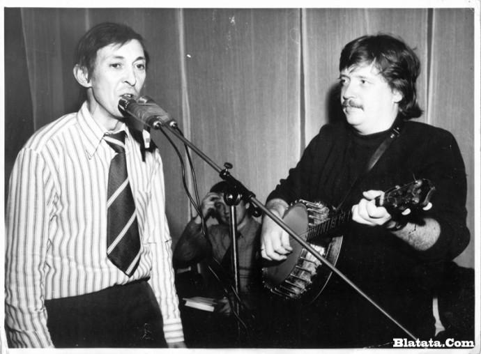Аркадий Северный на записи концерта Проводы 1977 года 20