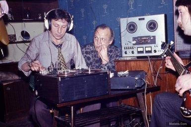 Сергей Маклаков, Владимир Роменский, Николай Резанов во время записи концерта
