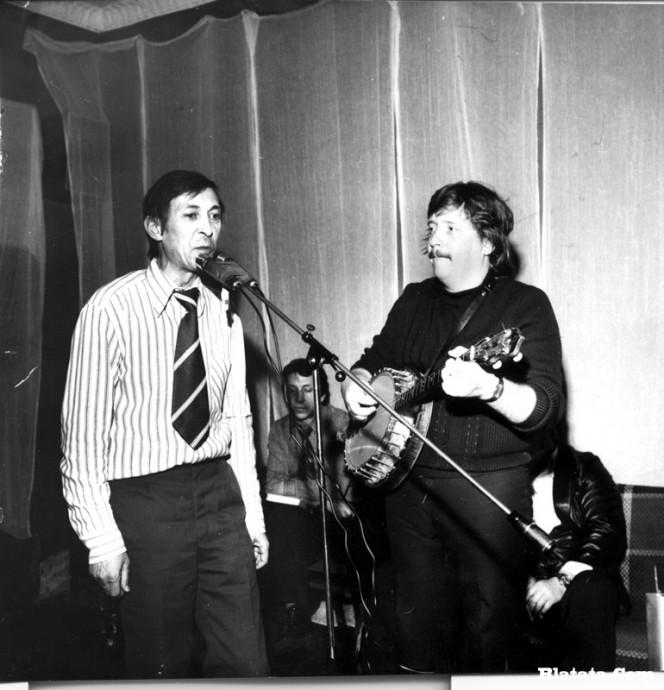 Аркадий Северный на записи концерта Проводы 1977 года 7