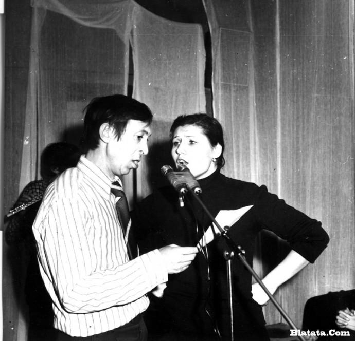 Аркадий Северный на записи концерта Проводы 1977 года 10