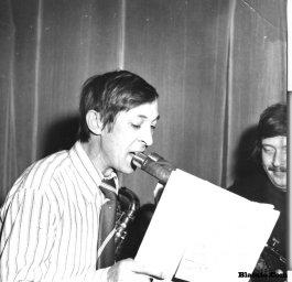 Аркадий Северный на записи концерта Проводы 1977 года 11