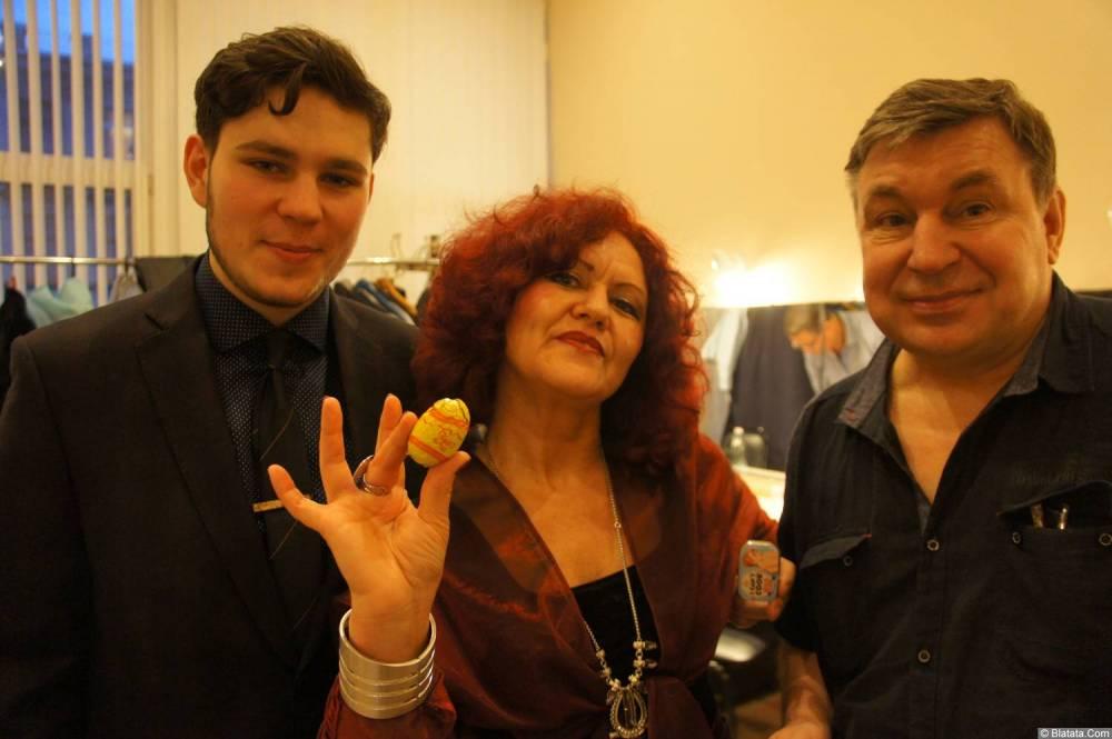 Ирина Каспер, Аркадий Фрумин и Михаил Шелег на XX-м фестивале памяти Аркадия Северного 12 апреля 2015 г.