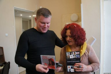 Ирина Каспер и Михаил Дюков на XX-м фестивале памяти Аркадия Северного 12 апреля 2015 г.