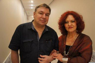 Ирина Каспер и Михаил Шелег на XX-м фестивале памяти Аркадия Северного 12 апреля 2015 г.