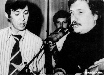 Аркадий Северный на записи концерта Проводы 1977 года 2