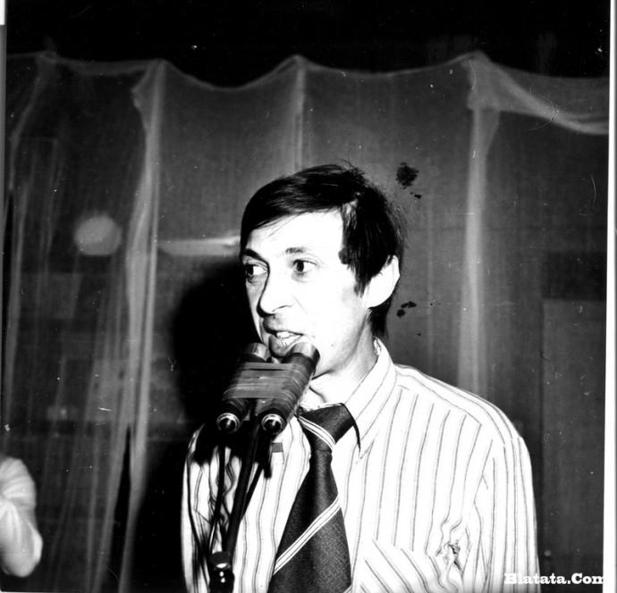 Аркадий Северный на записи концерта Проводы 1977 года 3