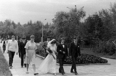 Свадебная процессия на мемориале